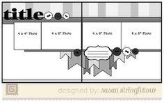 Scrapbooking layout