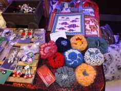 Handmade bags, corsages and jewellery at Sheffield Alternative and Burlesque Show Saturday 18th October.