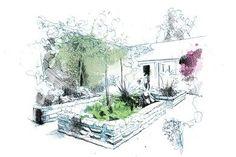 "Raised Planters Drawing ""Dream Team's"" Portland Garden David Despau ,"