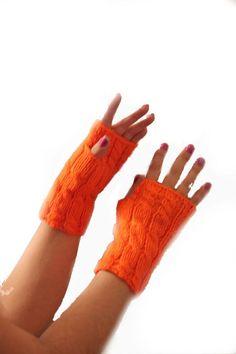 ON SALE  Wool Fingerless Gloves Armwarmers Hand Knit by NesrinArt, $16.00