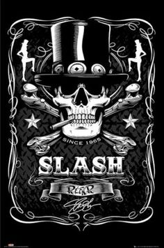 SLASH-POSTER-1965-SINCE-24x36-Music-Guitar-Guns-Roses-Velvet-Revolver