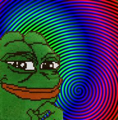 The Rarest Pepe Perler Bead by FacialReef on Etsy