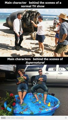 Epic Supernatural Cast behind the scenes