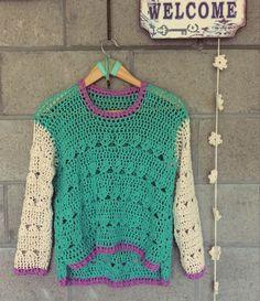 Rustic looking handmade sweater