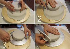 Aprenda passo a passo como cobrir um bolo com pasta americana | Creative