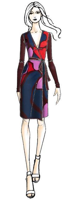 The Linda DVF Wrap Dress
