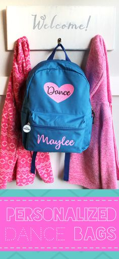 f838d68e0bbb Cute Personalized Dance bags and backpacks! Choose your backpack color