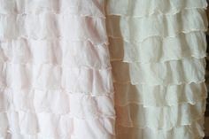Life is Beautiful: vertical ruffle skirt with a black elastic waistband