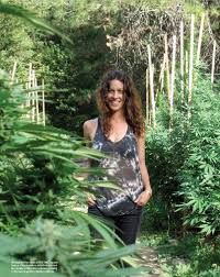 "Alanis Morrisette makes her statement for pro-cannabis by posing among this massive garden in North Carolina for the hippie cult magazine ""High Times"" Marijuana Plants, Cannabis, High Times, Stoner Girl, Buy Weed Online, Time Photo, Smoking Weed, Flower Power, Planting Flowers"