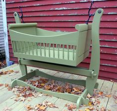 Swinging Sleigh Baby Cradle Traditional Handmade Crib Nursery Furniture From Maine Brighton Woodshop on Etsy, $1,289.00