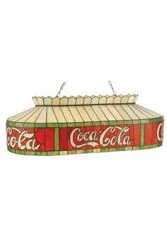 "Meyda Tiffany 98072 32"" L Coca-Cola Island / Billiard Fixture Flame Indoor Lighting Chandeliers"