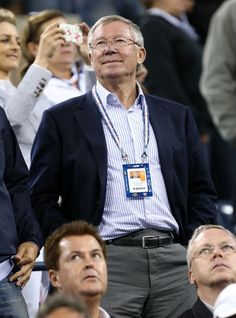 Sir Alex Ferguson will have plenty of opportunities to sport a more casual look like this after announcing his retirement. The on-trend sports jacket is a refreshing change from usual formal attire in the dugout.