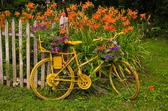 Vermont Landscape Photos: PAINTED BICYCLE, SPRING/ SUMMER
