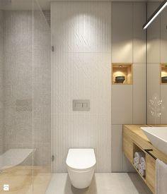 Znalezione obrazy dla zapytania lazienka bez okna Bathroom Toilets, Laundry In Bathroom, Small Bathroom, Small Toilet, Wet Rooms, Grey Bathrooms, Scandinavian Interior, Textured Walls, Smart Home
