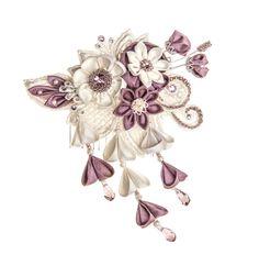 Summer outdoor wedding rustic/ woodland Bridal Headpiece guipure lace, silk handmade flowers and Swarovski crystals