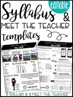 Syllabus editable 8 different editable syllabus for Create a syllabus template