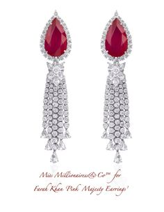 Farah Khan 'Pink Majesty Earrings'