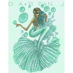 Mermaid Collection, The Teal Tail Mermaid by Daren J