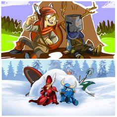 Shovel Knight and Shield Knight. <3