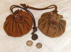 Leather drawstring bags by LukasKubke.deviantart.com on @DeviantArt