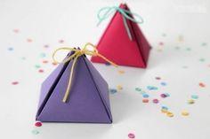Piramis formájú ajándékdoboz sablon - kreativotletek.qwqw.hu
