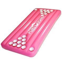 Pink Floating Pool Beer Pong Table