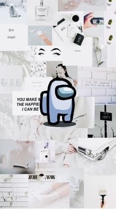 Among Us (White) Wallpaper