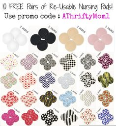 Free  Reusable Breast Pads from breastpads.com with promo code AThriftyMom1, #FREE, #Baby, #Nursing, #BreastPads