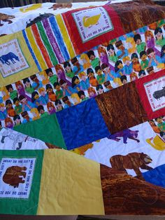 Brown Bear by Eric Carle Crib Quilt by astitchofmine on Etsy, $80.00
