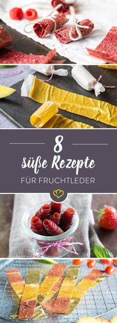 Fruchtleder Rezepte: 8 bunte Ideen für Obst zum Aufrollen With strawberries, mango or apple spinach? There are 8 fruit leather inspiration to imitate and snack on. Healthy Sweets, Healthy Snacks, Raw Food Recipes, Sweet Recipes, Cake Recipes, Dessert Recipes, Fruit Leather Recipe, Comidas Fitness, Fruit Roll Ups