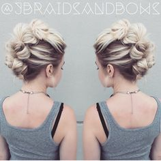 @jbraidsandbows replicated my Topsytail faux hawk tutorial I made up on my…