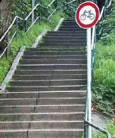 this is bike path in your dreams Bike Path, Stairway To Heaven, Stairways, Signage, Cool Pictures, Bicycle, Outdoor Decor, Fun, Home Decor