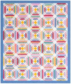 Hancocks of Paducah offers a wide selection of Quilt Kit by Robert Kaufman Pineapple Quilt Pattern, Pineapple Quilt Block, Rag Quilt, Scrappy Quilts, Quilt Blocks, Quilt Patterns Free, Pattern Blocks, Free Pattern, Quilting Projects