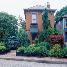 Go Green, plant a variety of evergreen shrubs to keep front yard green all year