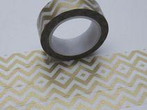 Washi Masking Tape GOLD CHEVRON ZickZack