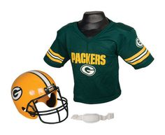 Green Bay Packers NFL Kid s Team Jersey Set with Helmet - Green 94799a5fc