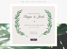 I like this template for the wedding website :) :) :0