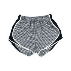 Shorties Shorts in Navy Gingham by Lauren James ($45) ❤ liked on Polyvore featuring shorts, bottoms, clothes - shorts and short
