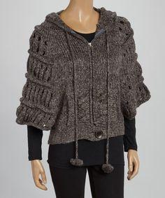 Loving this Shadow Open-Weave Zip-Up Cardigan on #zulily! #zulilyfinds.  Mannequin is soooo bad... design is soooo good.