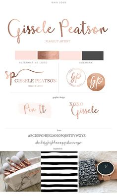 Photography Branding kit Rose gold Branding Package Female