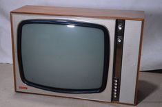 Retro Vintage Large Heavy Philips Television Model G23T210A Black White 1960s