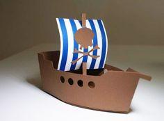 Caja Bolsita Souvenir Cumple Barco Jake Piratas Bucky