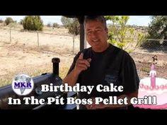 Birthday Cake On The Pit Boss Pro Series 1100 Pellet Grill Pit Boss Pellet Grill, Smoker Recipes, Grilling, Birthday Cake, Smoking Recipes, Birthday Cakes, Backen, Birthday Cookies, Cake Birthday