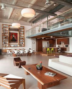 The only word we have for this expansive Miami loft by 2C Design is WOW. Photo by @juansilvaphotos.