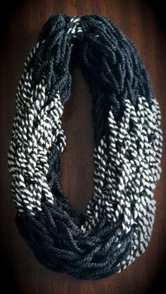 Arm Knit Scarf Infinity by WArmknitz on Etsy