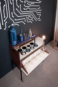 Product Launch ABSOLUT Electrik Limited Edition, Vienna #absolutelectrik Vienna, Liquor Cabinet, Product Launch, Loft, House, Ideas, Home Decor, Homemade Home Decor, Home