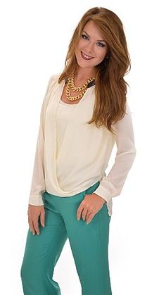 We're obsessed with shirt-tail blouses! $42 at shopbluedoor.com