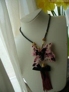 Купить бабочка мечта - розовый, украшения ручной работы, брошь, кулон, вышивка на заказ Tassel Necklace, Tassels, Jewelry, Fashion, Moda, Jewlery, Jewerly, Fashion Styles, Schmuck