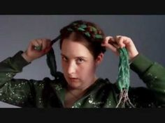 Hair Tutorial - Scarf Series: Renaissance Heidi Braids (LHC Hairstyle of the Month November 2011)