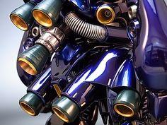 Painted Build: MG Kampfer Chrome Gundam Flauros, Gundam Wing, Futuristic Robot, Gundam Astray, Sea Dweller, Gunpla Custom, Metal Structure, Gundam Model, Anime Comics